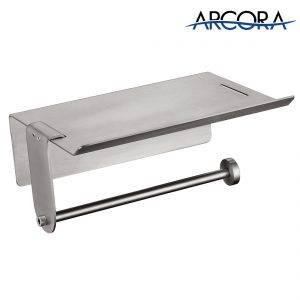 ARCORA Porte-papier hygiénique avec étagère pour téléphone portable