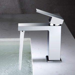 robinet de lavabo de salle de bain robinet de lavabo en cuivre mitigeur de salle de bain robinet de salle de bain robinet chromé rectangulaire robinet de lavabo de toilette
