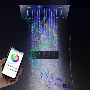 Systèmes de douche Music LED Valve de douche chaude et froide à 5 fonctions