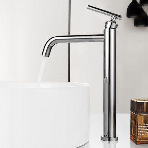 robinets de lavabo à poser Chrome