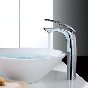 élégant robinet de lavabo robinet de bain haut mitigeur monocommande lavabo robinet salle de bain robinet lavabo mitigeur pour salle de bain