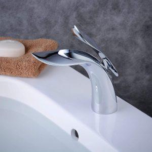Mitigeur monocommande de lavabo robinet de lavabo lavabo salle de bain chrome